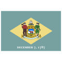 US DE Delaware Flag icon