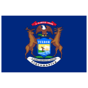 US MI Michigan Flag icon