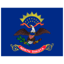 US ND North Dakota Flag icon