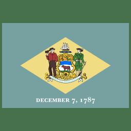 US DE Delaware Flag icon