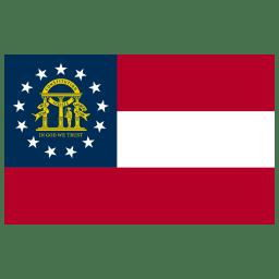 US GA Georgia Flag icon