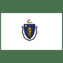 US MA Massachusetts Flag icon