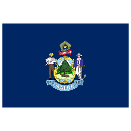 US ME Maine Flag icon