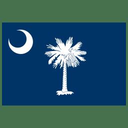US SC South Carolina Flag icon