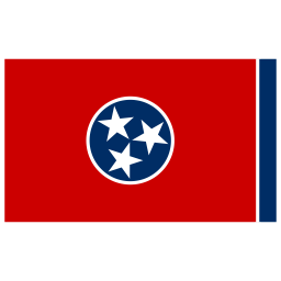 US TN Tennessee Flag icon
