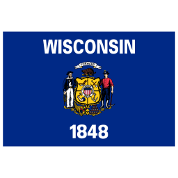 US WI Wisconsin Flag icon