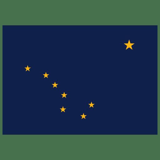 US AK Alaska Flag icon