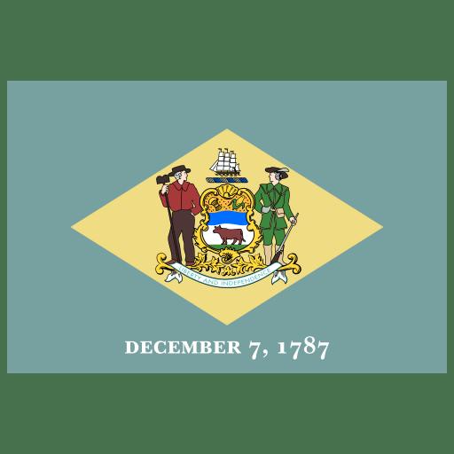 US-DE-Delaware-Flag icon