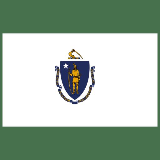 US-MA-Massachusetts-Flag icon