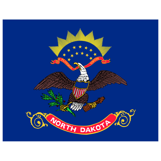 US ND North Dakota Flag icon