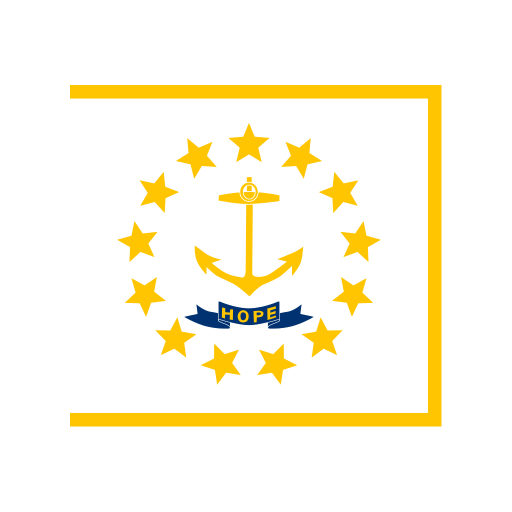 US RI Rhode Island Flag icon
