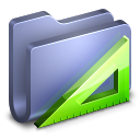 Applications-Blue-Folder icon