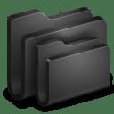 Folders Black Folder icon