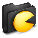 Games Black Folder icon