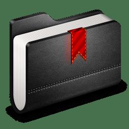 Bookmark Black Folder icon