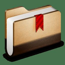 Bookmark Brown Folder icon