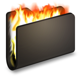 Burn Black Folder icon