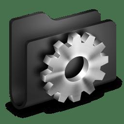 Developer Black Folder icon