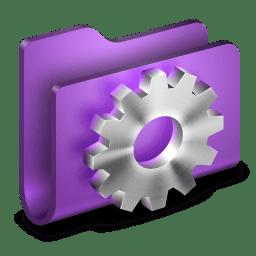 Developer Purple Folder icon