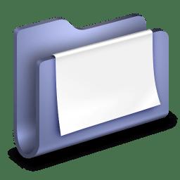 Documents Blue Folder icon