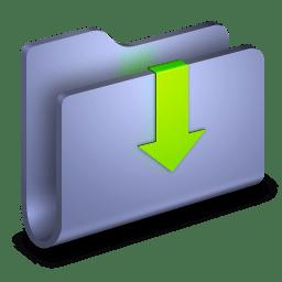 Downloads Blue Folder icon