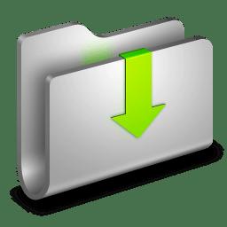 Downloads Metal Folder icon