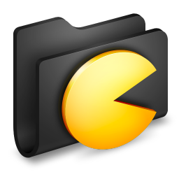 Games Black Folder icon