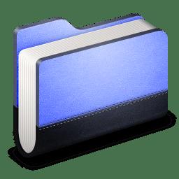 Library Blue Folder icon