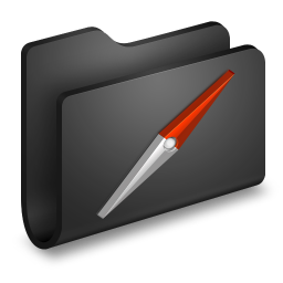 Sites Black Folder icon