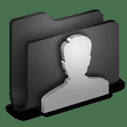 User Black Folder icon