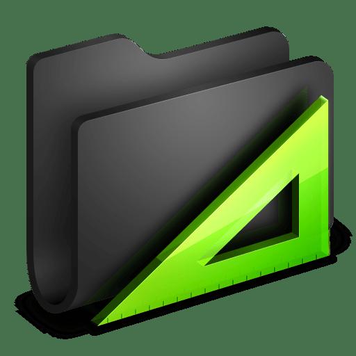 Applications-Black-Folder icon