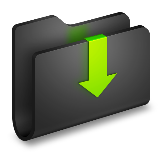 Downloads-Black-Folder icon