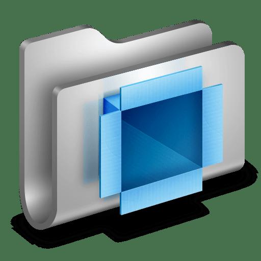DropBox-Metal-Folder icon