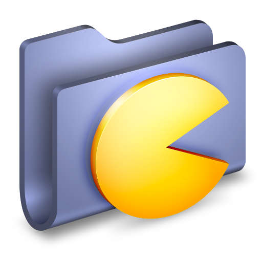 Games-Blue-Folder icon