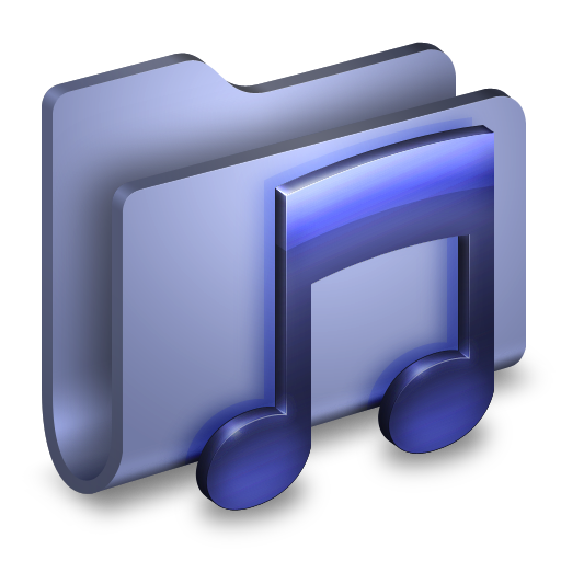 Music-Blue-Folder icon