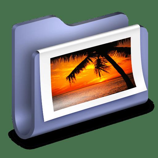 Photos-Blue-Folder icon