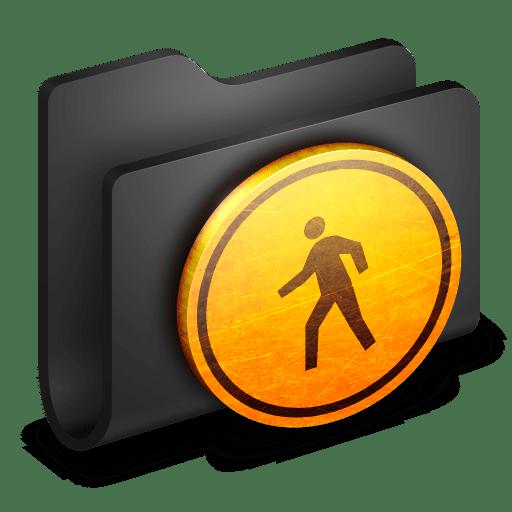 Public-Black-Folder icon