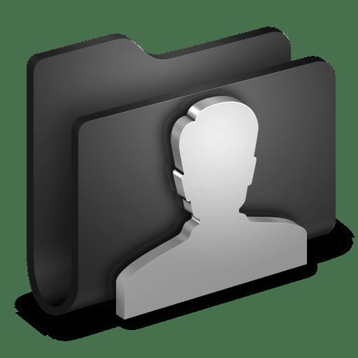 User-Black-Folder icon