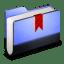 Bookmark Blue Folder icon