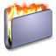 Burn-Blue-Folder icon