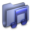 Music Blue Folder icon