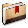 Bookmark-Brown-Folder icon