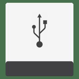 Drive Hdd Usb White Icon Minimalism Iconset Xenatt