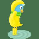Fall raincoat icon