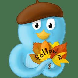 Fall leaves follow me icon