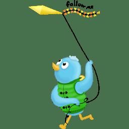 Spring kite follow me icon