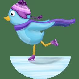 Winter skating icon