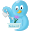 Spring flower follow me icon