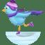 Winter-skating icon