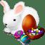 Rabbit eggs icon